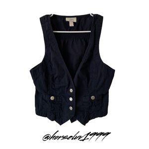 Ann Taylor Loft Women's Navy Blue Vest Size S